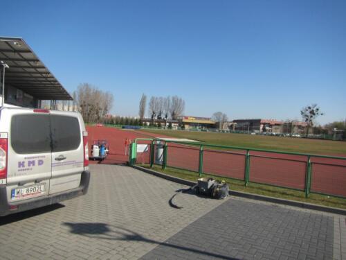Badania diagnostyczne nawierzchni bieżni sportowej na stadionie w Opole