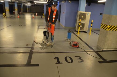 Ekspertyza techniczna posadzki przemysłowej w garażu budynku na Górnym Śląsku