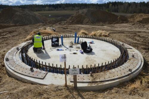 Ekspertyz techniczna fundamentu pod wieżę turbiny wiatrowej koło Dzierzgoń