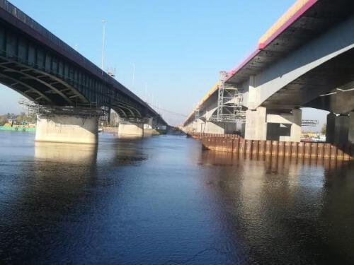 Badania ultradźwiękowe oraz impact-echo kabli sprężających mostu przez rz. Wisłę (Kiezmark)